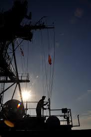 Ponce Flag File Flickr Official U S Navy Imagery Uss Ponce Sailor Hoists