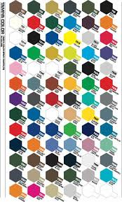 tamiya paint u0026 colour charts enamel acrylic u0026 polycarbonate