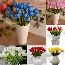 Cheap Plastic Flower Vases Online Cheap Tulip Pu Plastic Artificial Flower Wedding Home
