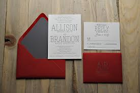 Red Wedding Invitations Real Wedding Allison And Brandon Red And Grey Wedding Invitations