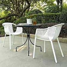 Metal Outdoor Dining Chairs White Metal Patio Dining Set Outdoor Table And Chairs Plastic