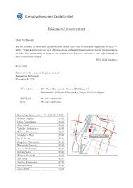 business relocation announcement letter template sample with map