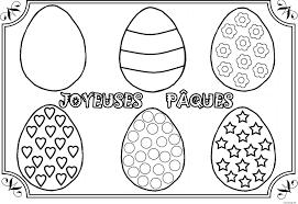 coloriage paques dessin à imprimer gratuit