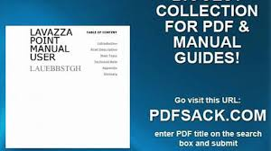 lavazza point manual user video dailymotion