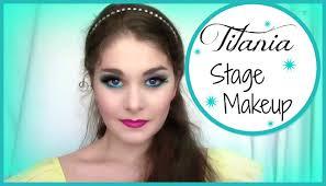 Professional Stage Makeup Titania Stage Makeup Tutorial Kathryn Morgan Youtube