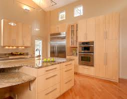 How To Clean Maple Kitchen Cabinets Maple Cabinets With Granite Kitchen Contemporary With Clean Lines
