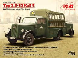 opel truck ww2 typ 2 5 32 kzs 8 wwii german light fire truck icm holding