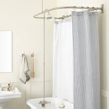 Shower Curtain Clawfoot Tub Solution Clawfoot Tub To Shower Conversion Kits Signature Hardware