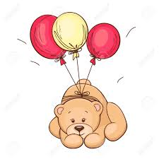 balloons and teddy bears teddy and balloons vector illustration