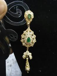 arabian earrings moroccan golden earring arabian jewelry gold and saphire stones