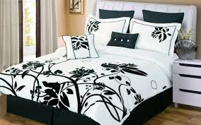 Rose Tree Symphony Comforter Set Black And White Bedding Sets 19pc Black White Comforter Curtain