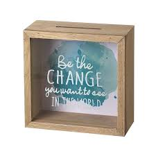 money box be the change you want to see in the world money box