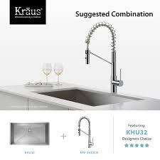 kraus commercial pre rinse chrome kitchen faucet faucet kpf 2630ss in stainless steel by kraus