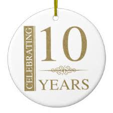 10th wedding anniversary 10th wedding anniversary ornaments keepsake ornaments zazzle