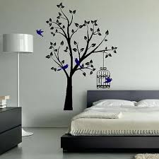 Designs For Bedroom Walls Wall Designs Bedroom Wall Tree Birds Birdcage Pretty