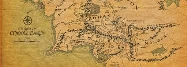 a map of middle earth returning to middle earth from one world to another a
