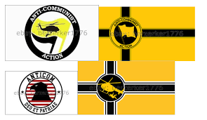 Flag Black Red Yellow Flags And Other Symbols Used By Far Right Groups In