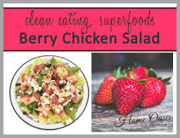 superfood berry chicken salad with strawberry balsamic dressing