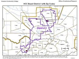 houston map with zip codes district i zip codes map houston community college hcc