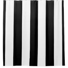 Black And White Vertical Striped Shower Curtain Huge Shower Curtains Zazzle