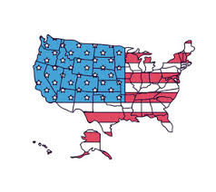 vector usa map usa vector map with america s flag design royalty free stock image