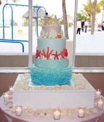rock star pastries ruffled beach wedding cake