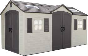 Entry7 by Lifetime Dual Entry 7 Ft 9 In W X 15 Ft D Plastic Storage Shed