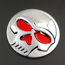 yamaha emblem chrome skull logo emblem badge decal tank sticker for harley atv