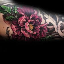 Male Flower Tattoos - 100 peony tattoo designs for men flower ink ideas