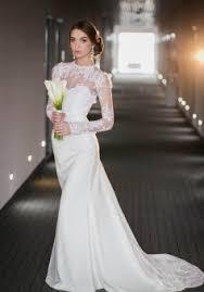 high neck wedding dresses vintage sleeve lace high neck wedding dress satin bridal gown