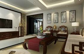 Neoclassical Style Living Room Interior Design With Chinese - Chinese style interior design