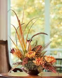 fugi mum u0026 croton silk centerpiece office flowers pinterest