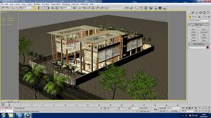 3d restaurant building with interior cgtrader