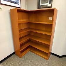 Corner Bookcase Cherry Used Halcon Corner Bookcase Cherry Bc1505 011 Office Furniture