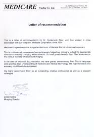 recommendation letter medical doctor u2013 templates free printable