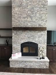 Travertine Fireplace Hearth - heat u0026 glo northstar with silver travertine stacked stone gagnon
