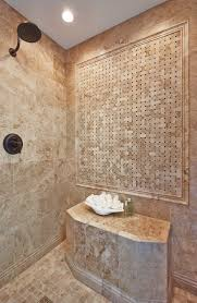 bathroom shower marble tile cappuccino niles with dark emperador