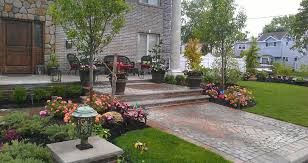 Formal Front Yard Landscaping Ideas - front yard landscaping house long island ny