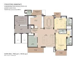 cn tower floor plan floor plans of ambience creacions sector 22 gurgaon ambience