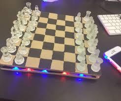 fancy chess boards light up chess board 6 steps