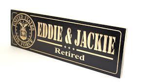 retirement plaque wording custom carved sign