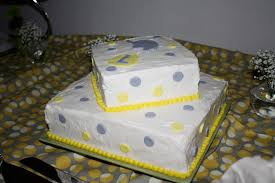 cakes by victoria clare gray and yellow baby shower