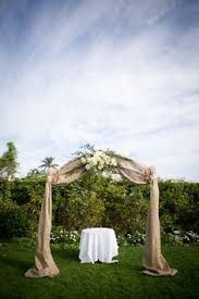 wedding arches decorated with burlap wedding arch burlap hydrangea maybe different fabric and