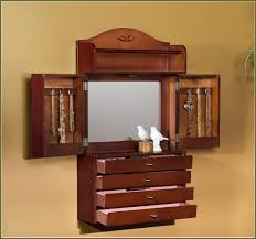 jewelry cabinet mirror free standing home design ideas
