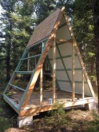 a frame roof couple builds tiny a frame cabin for just 700