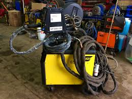 esab mig 500tw water cooled mig welding machine complete package
