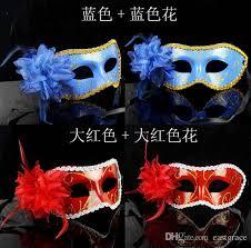 Venetian Halloween Costumes Halloween Costumes Masks Lateral Flowers Flat Edge Coloured