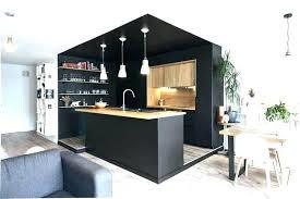 cuisine en noir cuisine noir mat et bois cuisine mat a salon pour en comple cm