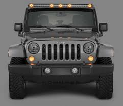 quadratec j5 led light bar kit with 6 bolt windshield mounting