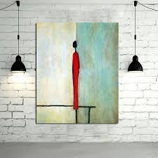 single man home decor handpainted abstract single man figure oil paintings on canvas